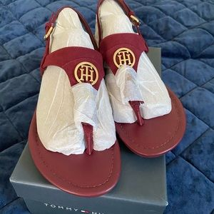 Tommy Hilfiger red sandals